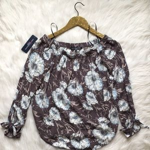 One Clothing over the shoulder floral top
